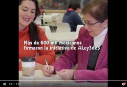 Más de 600 mil mexicanos firmaron la #Ley3de3
