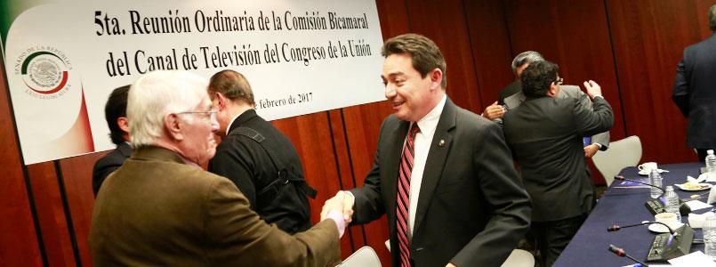 Daniel Ávila Ruiz rinde informe de su gestión al frente de la Comisión Bicamaral del Canal del Congreso